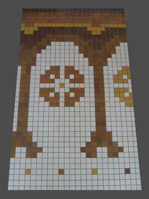 echantillon d'un morceau de la frise en mosaïque