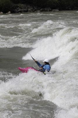 Direkt vom Kehrwasser in die Welle - ein Traum!