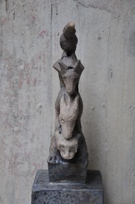 Tierpyramide   (Keramik,Rakubrand,2014)