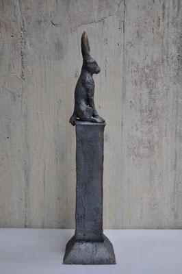 Hase   (Keramik,Rakubrand,2012)