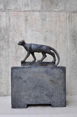 Katze  (Keramik,Rakubrand,2016)