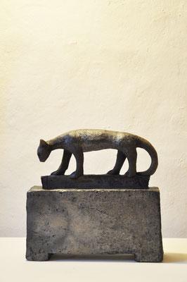 Katze  (Keramik,Rakubrand,2013)