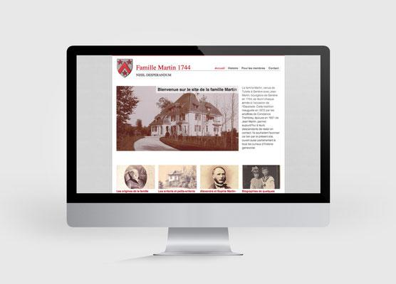 FAMILLE MARTIN | SITE INTERNET | CONCEPTION