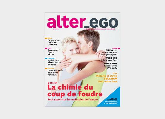 ALTER EGO | EDIPRESE | PROJET DE MAGAZINE | NUMÉRO ZERO | CONCEPTION ET RÉALISATION