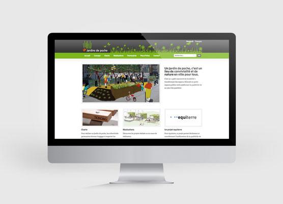 JARDINS DE POCHE | SITE INTERNET | CONCEPTION