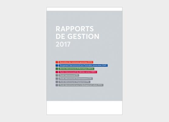 ASSOCIATION DES COMMUNES GENEVOISES | RAPPORT DE GESTION | CONCEPTION ET RÉALISATION