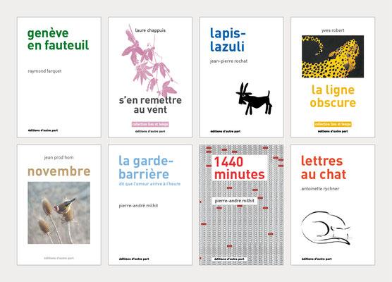 ÉDITIONS D'AUTRE PART | CONCEPTION ET RÉALISATION DE LIVRES | COUVERTURE ET PAGES INTÉRIEURES
