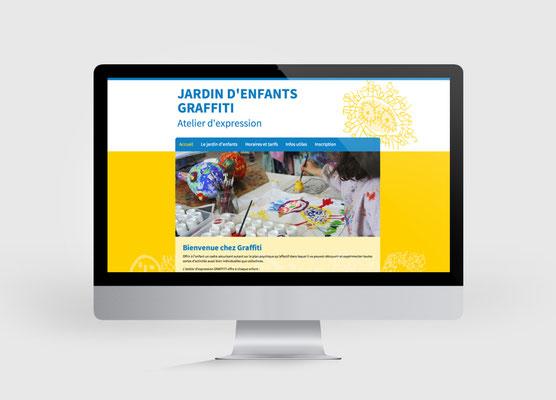 JARDIN D'ENFANTS GRAFFITTI | SITE INTERNET | CONCEPTION