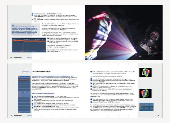 MODUL8 | MANUEL DU LOGICIEL DE MIXAGE D'IMAGES EN DIRECT POUR VJ'S | GRAPHISME EN COLLABORATION AVEC VIRGINIE FÜRST FORCHIC