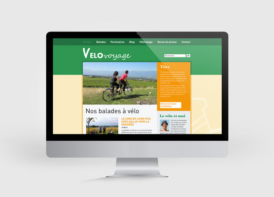 VELOVOYAGE | SITE INTERNET | CONCEPTION