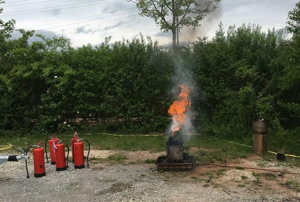 Was passiert, wenn Öl in der Küche anfängt zu brennen und ....