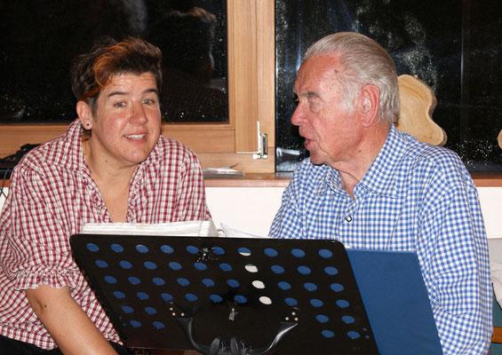 Steffi und Albert Rupprecht mit Gesang