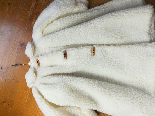 Puppenmantel  Teddystoff mit Hut und Muff   100,00€