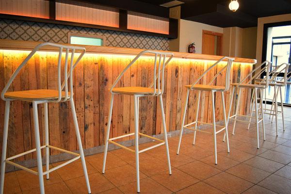 barras de bar  BARRA DE MADERA