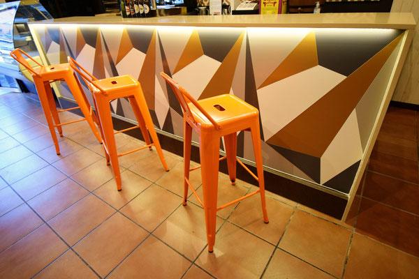 barras de bar BARRA DE SILESTONE Y PANEL COMPOSITE