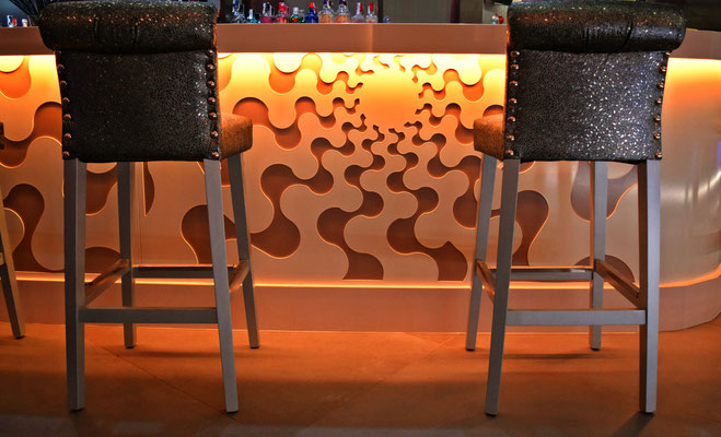 barras de bar  BARRA DE SILESTONE Y PANEL COMPOSITE