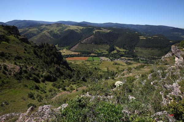 Au-dessus de la vallée de Salvinsac