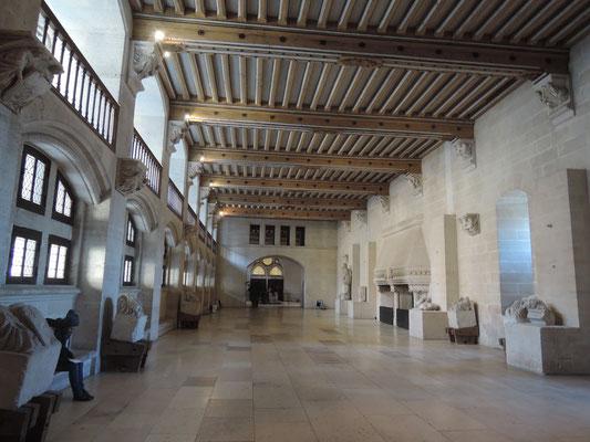 château de Pierrefonds, grande salle, plafonds peints
