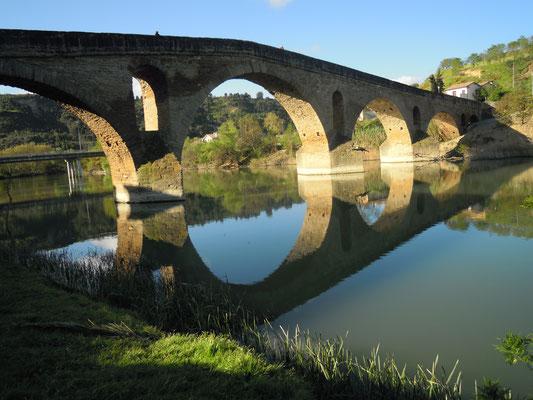 Puente la Reina - the four trails forme one!