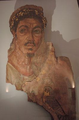 portrait d'homme (vers 110-130 de notre ère) au musée d'art sacré du Gard à Pont-Saint-Esprit