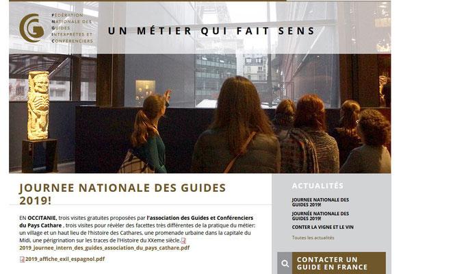 Journée Internationale des Guides Conférenciers 2019