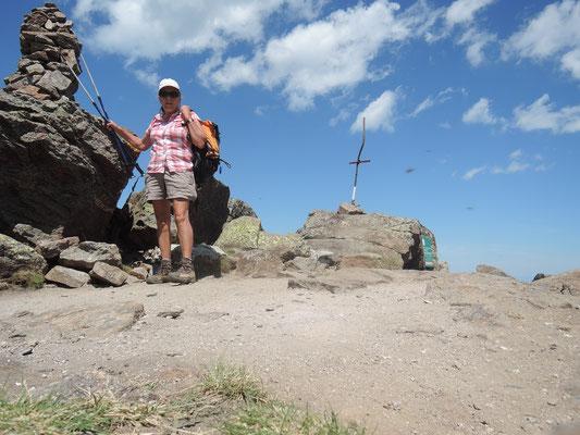 Ingrid au sommet du Pic St.Barthélémy 2368 m août 2019