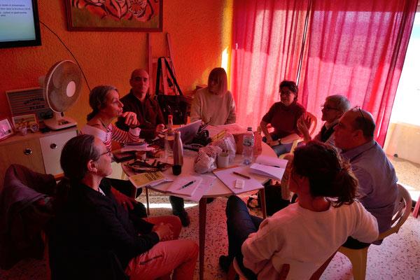 Les guides à Port-la-Nouvelle lors de l'AG 6/2/2019