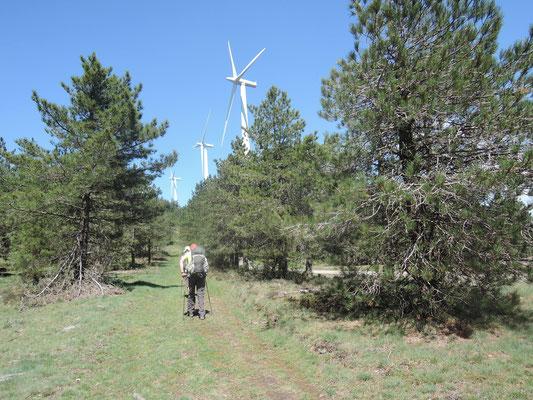 éolienne près de Pradelles