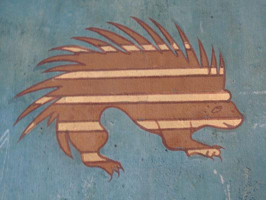 château de Pierrefonds, blason sur la tapisserie