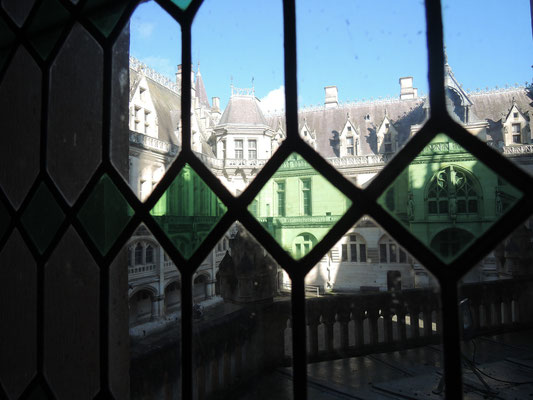 château de Pierrefonds, vue sur la cour intérieure