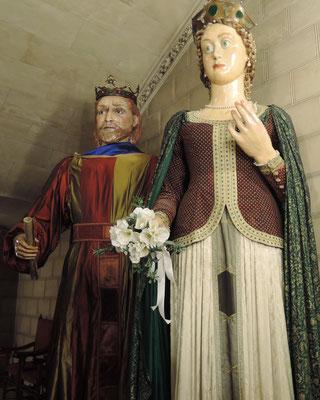 Sanç 1er roi de Majorque (1311-1324, mort à Formiguère) et sa mère Esclarmonde de Foix,