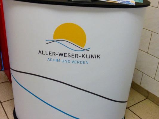 Die Aller-Weser-Klinik informierte die Schülerinnen und Schüler über die vielfältigen Berufe im Krankenhauswesen.