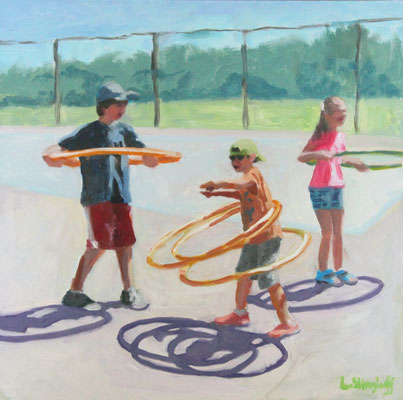 """Meet the Hoopers, Oil, 12x12"""" Available"""