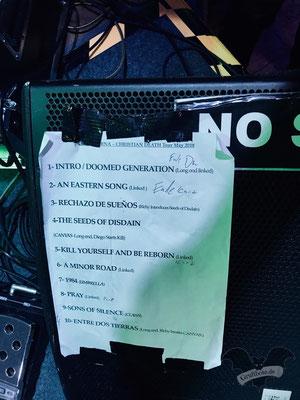 Die Setlist vom Nox Interna Konzert in Hannover, 8. Mai 2018 / Foto: Dunkelklaus