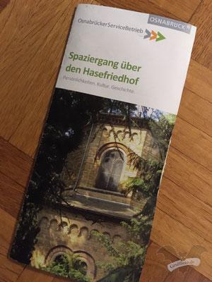 Info-Flyer des Hasefriedhofs in Osnabrück, 11. März 2020 / Foto: Batty Blue