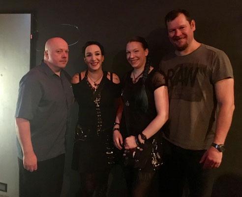 Ronan Harris, Gothamella, Batty Blue und Mark Jackson (v.l.), Berlin 16. Dezember 2016