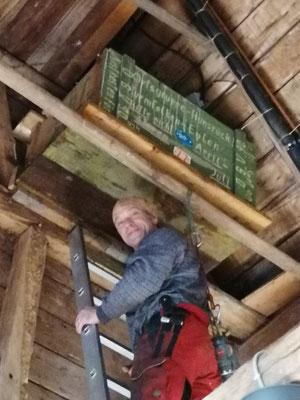 Sven Krämer auf der Leiter