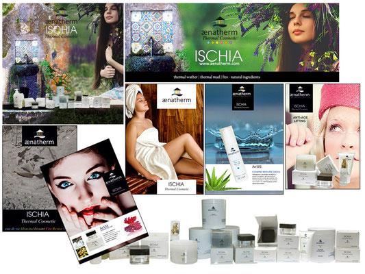alcuni materiali stampati per la promozione dei prodotti aenatherm