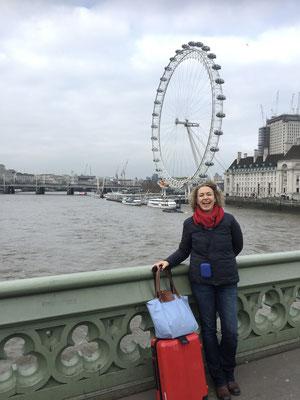 Oscar und ich vor London Eye