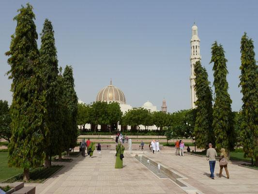 Blick auf die Sultan Qaboos Grand Mosque