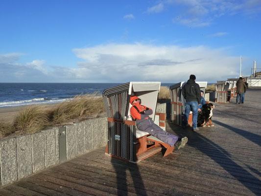 Moin, Du unbekannter Strandkorb-Sonnenanbeter