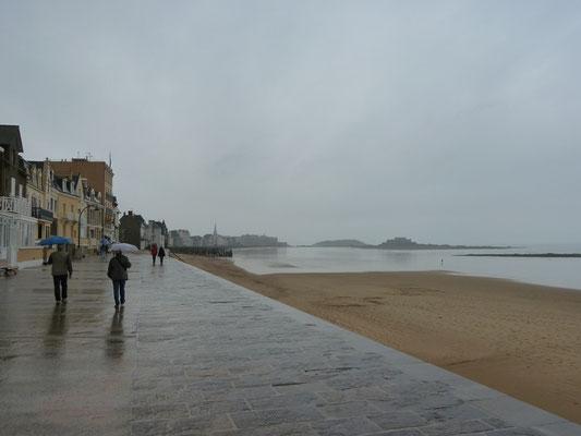 Rückmarsch - und jetzt regnet es richtig