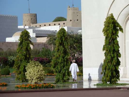 Im historischen Maskat - rechts des Sultanspalasts