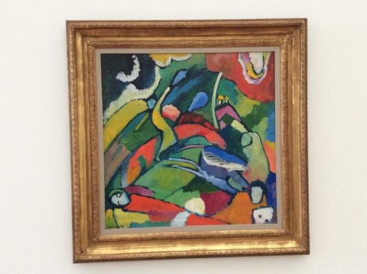 Wassily Kandinsky: Zwei Reiter und liegende Gestalt (1909/10)