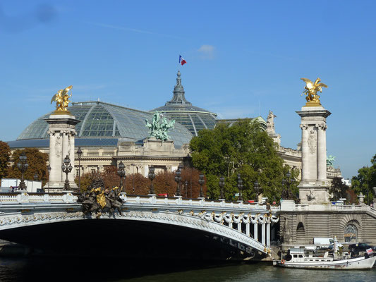 Grand Palais im Hintergrund - endlich weht die Trikolore