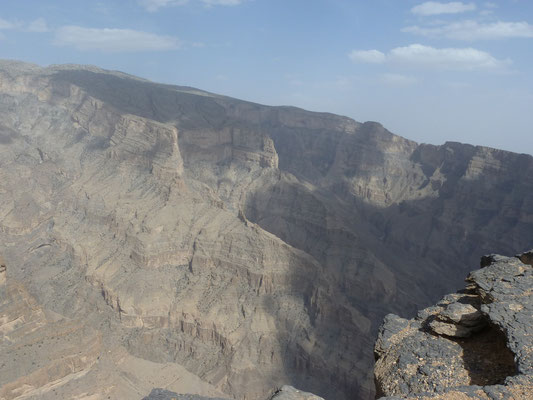 Blick vom Hochplateau beim Jebel Shams