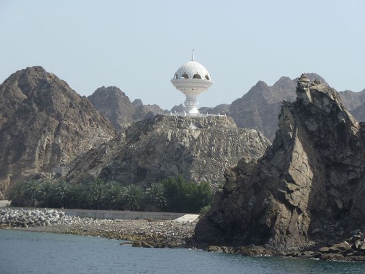 Jetzt weiss ich, weshalb die Weihrauchbrenner-Aussichtsplattform das meistfotografierteste Motiv von Maskat ist