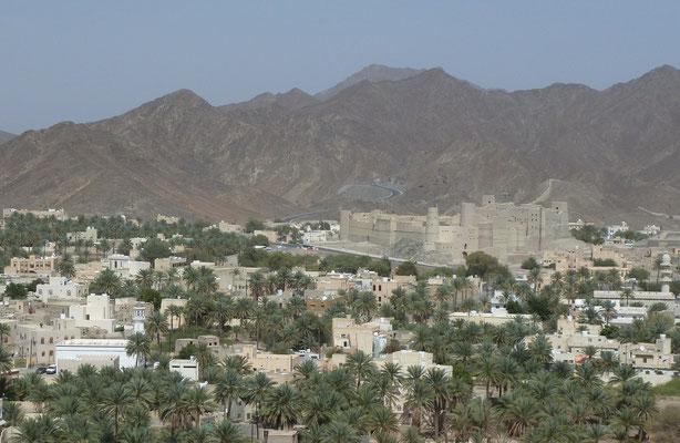 Blick aufs Unesco Weltkulturerbe die Burg von Bahla