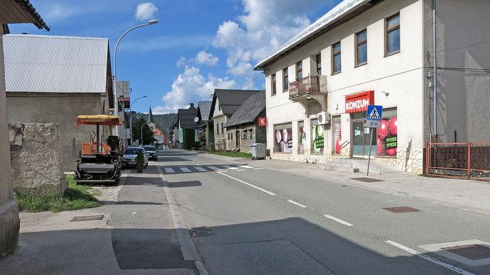 Prezid, Grenzort zu Slowenien