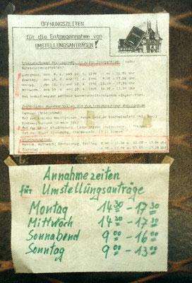 Hinweis auf die bevorstehende Währungsumstellung, Blankenburg